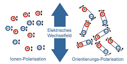 Molecular oscillations of polatizable substances
