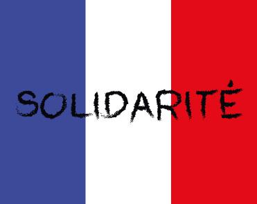 Solidarität mit Frankreich 2015